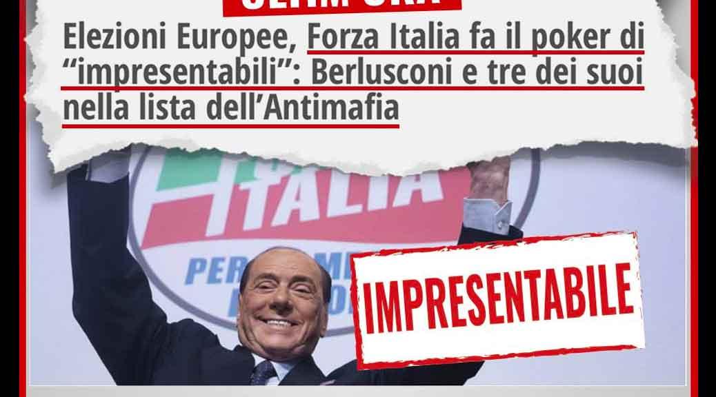 M5S: «Incredibile poker di Forza Italia: ben 4 impresentabili su 5»