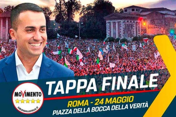 M5S: «Chiudiamo la campagna elettorale per le Europee tutti insieme a Roma»