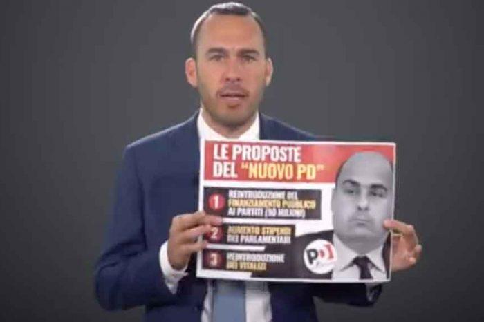 M5S: «Imbarazzante Zingaretti sbugiardato in diretta TV: nega la legge vergogna presentata dal Pd»