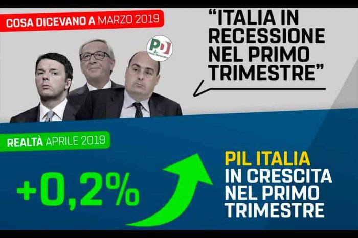 M5S: «Il racconto dell'Italia che va in malora era solo una fake news: il cambiamento c'è e si vede»