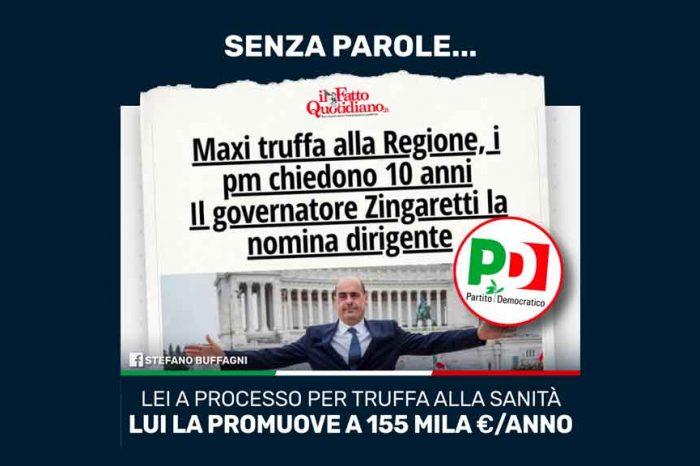 Buffagni (M5S): «Senza parole: Zingaretti nomina dirigente una funzionaria a processo per truffa alla sanità»