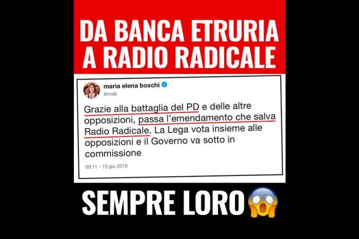 M5S: «La renziana Boschi esulta per i milioni delle vostre tasse regalati a Radio Radicale. Ma non si vergognano?»