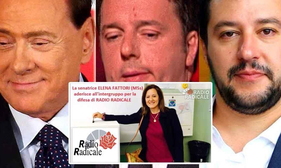 Senatrice del M5S sostiene la regalia dei soldi dei cittadini italiani ai parassiti di Radio Radicale. Lo faccia con i suoi soldi