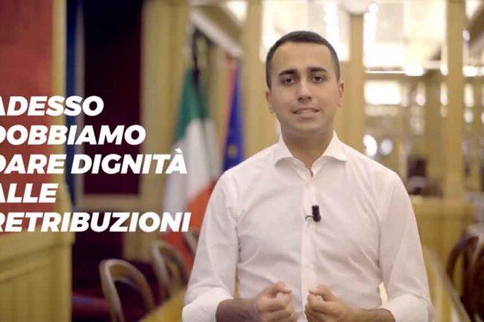 Salario Minimo Orario, Di Maio: 'Vi diranno tutti che non si può fare ma è ora di dare dignità alle retribuzioni'