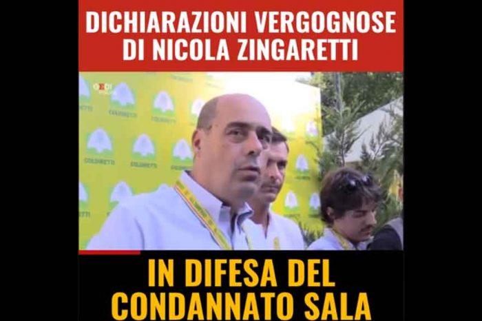 Condannato il sindaco di Milano Sala, M5S: 'Se nel PD vieni condannato non solo non vieni cacciato, ma ti becchi pure l'elogio da parte del segretario Zingaretti'