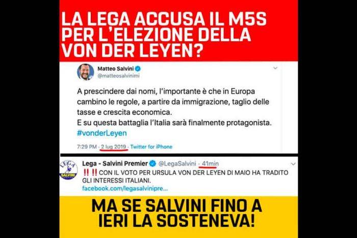 Castaldo (M5S): «La Lega accusa il M5S per l'elezione della von der Leyen? Ma se Salvini fino a ieri la sosteneva»