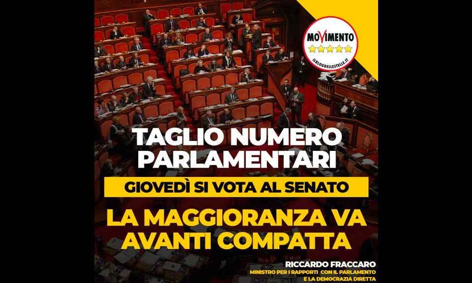 Il Senato approva il taglio del numero dei parlamentari