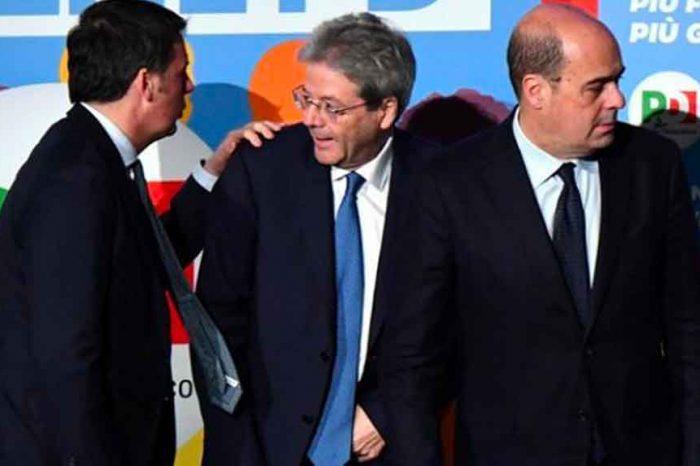 Pd, Zingaretti e Gentiloni sono le marionette di Renzi: come può il M5S fidarsi di loro?