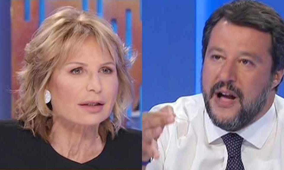 Otto e Mezzo, scontro tra Matteo Salvini e Lilli Gruber