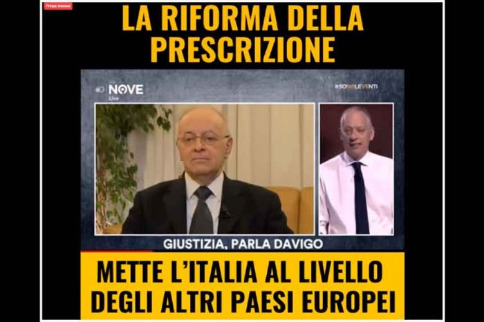 M5S: 'La riforma della prescrizione mette l'Italia a livello degli altri paesi europei'