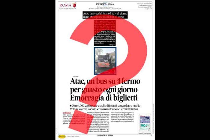 Roma, Calabrese (M5S) contro Il Messaggero: «Continua la saga delle falsità sul nostro piano di risanamento di Atac»