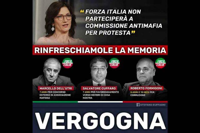 Gelmini: «Forza Italia non parteciperà alla Commissione Antimafia per protesta». Buffagni: «Vergogna! Rinfreschiamole la memoria»