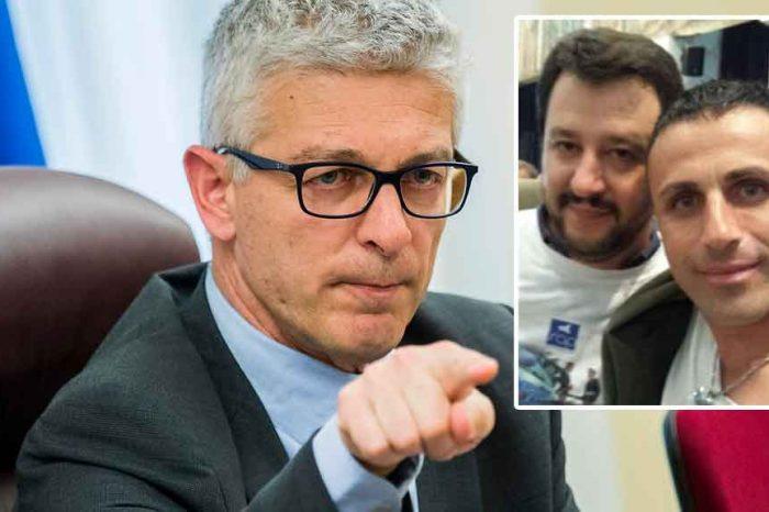 Morra: «Scozzafava, soggetto arrestato con Tallini, si fregiava di questo selfie con Salvini»