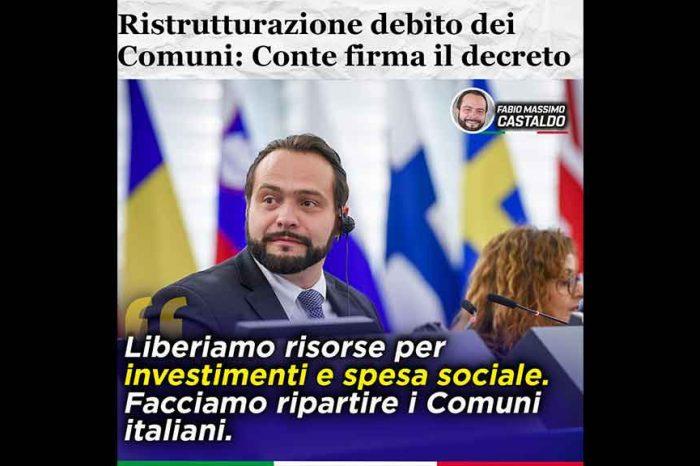 Castaldo (M5S): «Passo avanti importantissimo: Conte ha firmato il DPCM sulla costituzione dell'Unità di Coordinamento per la riduzione dell'onere del debito degli Enti Locali»