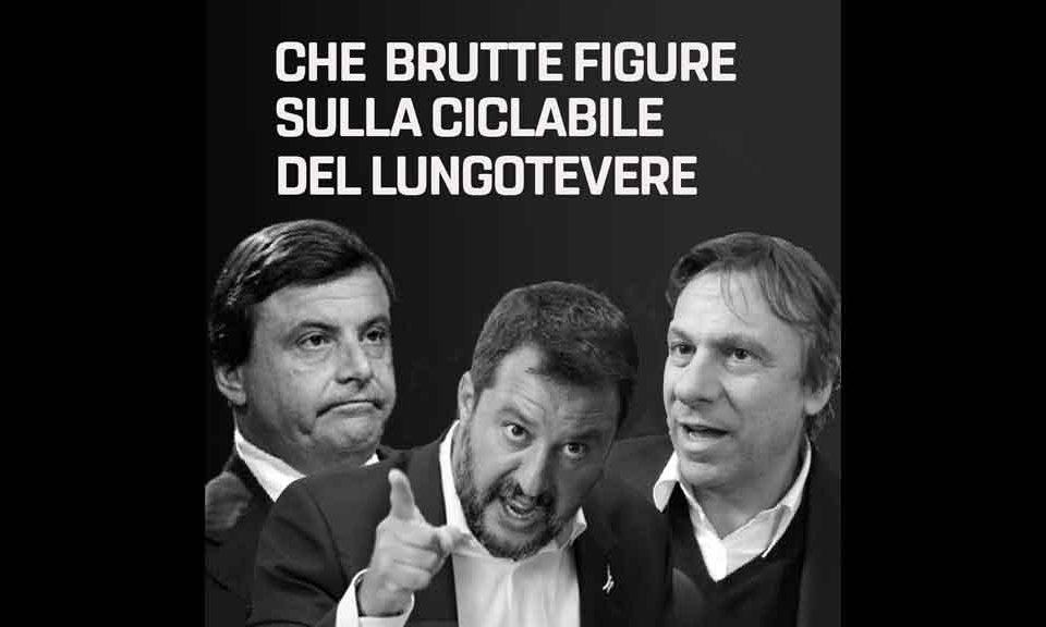 Roma, Ferrara (M5S) «Nicola Porro e Matteo Salvini hanno rilanciato la bufala di Carlo Calenda sulla pista ciclabile del lungotevere»