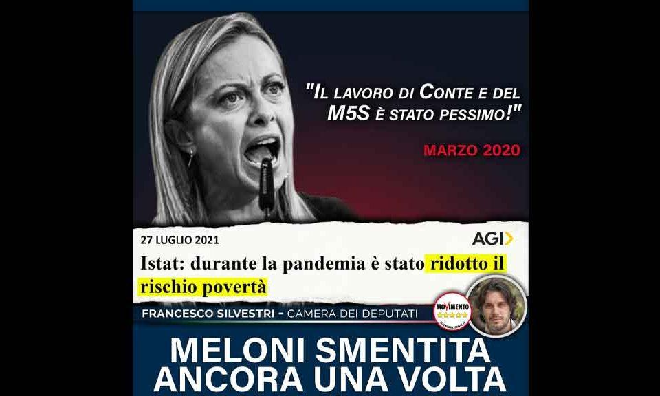 Silvestri (M5S): «Giorgia Meloni smentita ancora una volta»