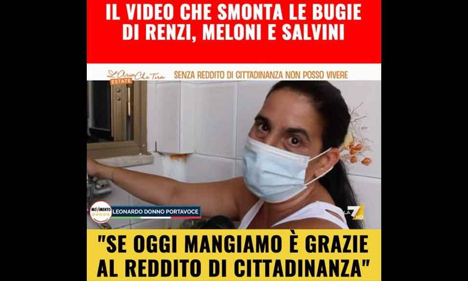 Donno (M5S): 'Ecco il video che spazza via la propaganda di Renzi, Salvini, e Meloni sul Reddito di cittadinanza'